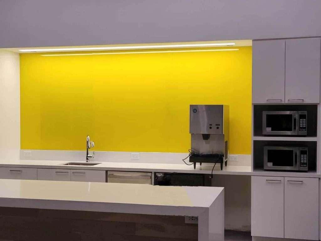 Yellow backsplash